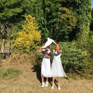 Children Release White Dove